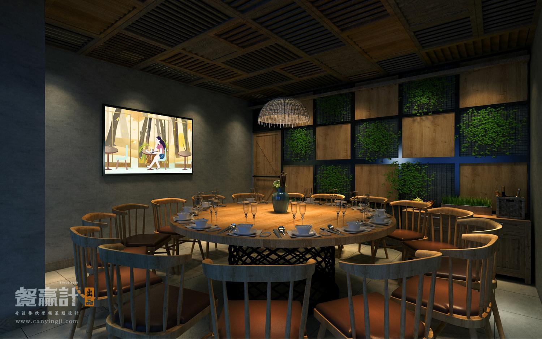 禾π生态餐厅包间空间设计效果图